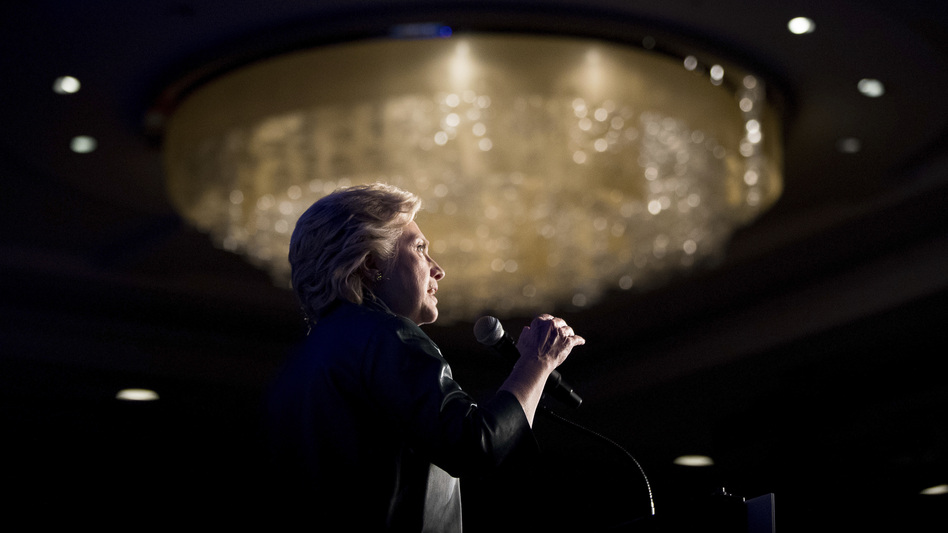Democratic presidential candidate Hillary Clinton speaks at a fundraiser in Washington, D.C., on Oct. 5. (Andrew Harnik/AP)