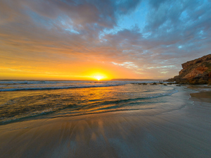 Sunset on Australia's Venus Bay.