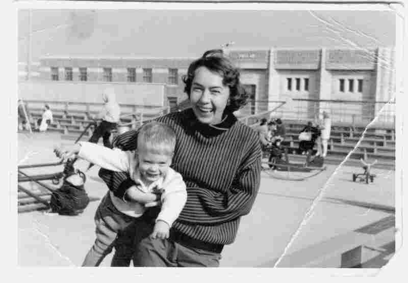 Slouka and his mother, Olga, in Jones Beach, NY. From Nobody's Son: A Memoir by Mark Slouka. Copyright 2016 by Mark Slouka. With permission of the publisher, W. W. Norton & Company, Inc. All rights reserved.