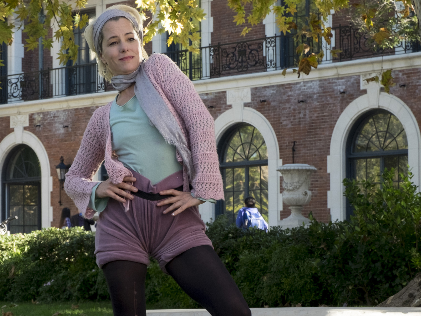 Parker Posey appeared in A Mighty Wind and Waiting for Guffman. She plays Cindi Babineaux, aka Alvin Armadillo, in Guest's latest film. Scott Garfield/Netflix.