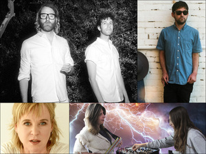 Clockwise from upper left: EL VY, Connor Oberst, The Blow, Kristin Hersh
