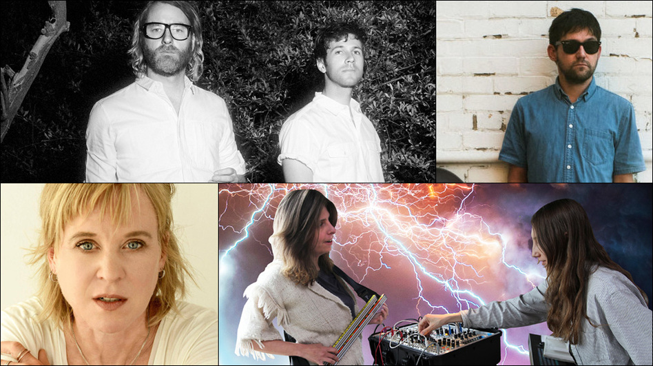 Clockwise from upper left: EL VY, Connor Oberst, The Blow, Kristin Hersh (Courtesy of the artists)