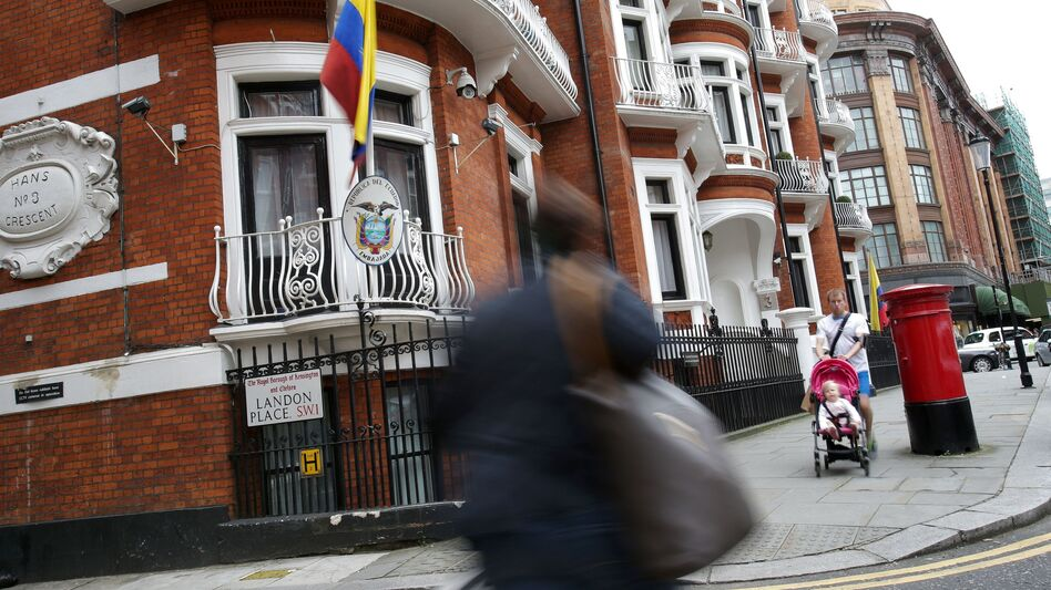 Ecuador has been hosting WikiLeaks founder Julian Assange in its embassy in London for more than four years. Ecuador acknowledged Tuesday it has limited his Internet access because of the website's release of stolen emails that have affected the U.S. presidential campaign