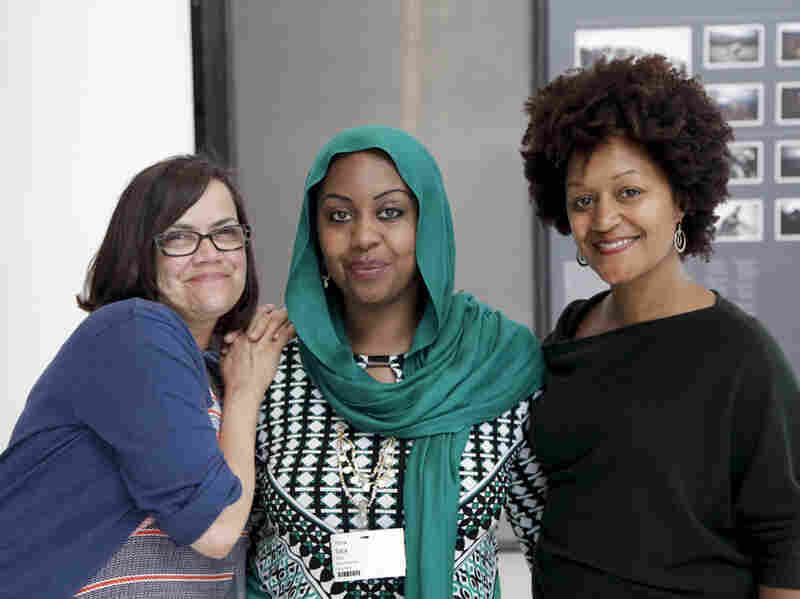 The Stoop team (L-to-R) Julie Caine, Hana Baba, Leila Day