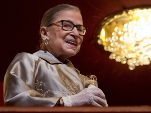 U.S. Supreme Court Justice Ruth Bader Ginsburg attends the 2015 Kennedy Center Honors in Washington on Dec. 6, 2015.