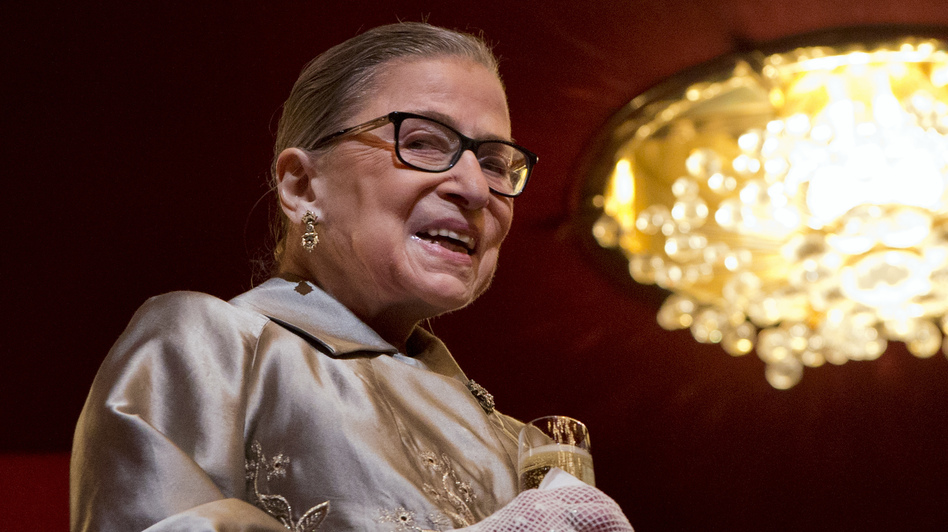 Supreme Court Justice Ruth Bader Ginsburg attends the 2015 Kennedy Center Honors in Washington on Dec. 6, 2015. (Jacquelyn Martin/AP)