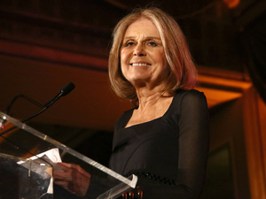 Gloria Steinem speaks at an awards gala in April.