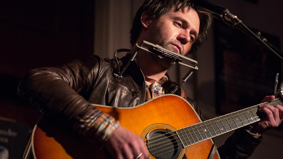 Conor Oberst performs Ruminations in its entirety at Housing Works Bookstore. (Ebru Yildiz for NPR)