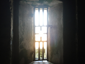 "Captive Africans at Elmina Castle were led through the ""Door of No Return"" to ships that would take them to the Americas as slaves."