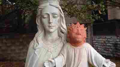 New Head For Jesus Statue That Prompted Double Takes Is Gone