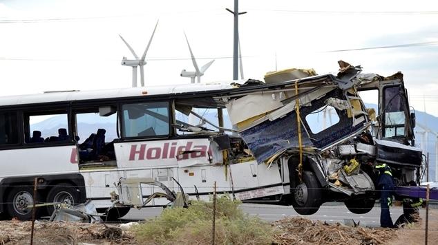 Tour Bus Crashes Into Truck, Killing Over A Dozen In CA