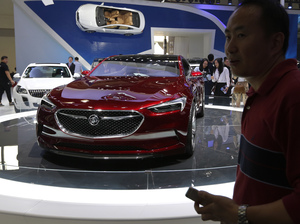A Buick Avista concept car is exhibited in Beijing in April. Buick, which sells a large percentage of its cars in China, is No. 3 in Consumer Reports' latest reliability rankings.