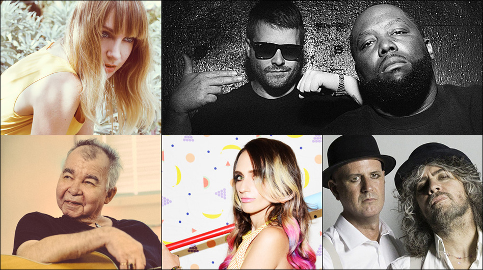 Clockwise from upper left: Laura Burhenn, Run The Jewels, The Flaming Lips, Sadie Dupuis of Sad13, John Prine (Courtesy of the artists)