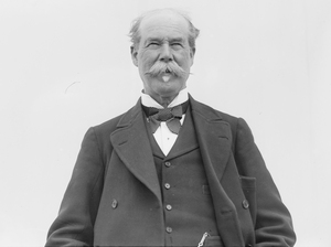 "Sir Thomas Lipton in 1909. Lipton was already a self-made millionaire before he ever entered the tea trade. But by figuring out how to lower the retail cost of tea and standardize his product ""direct from the tea gardens,"" he became much, much richer."