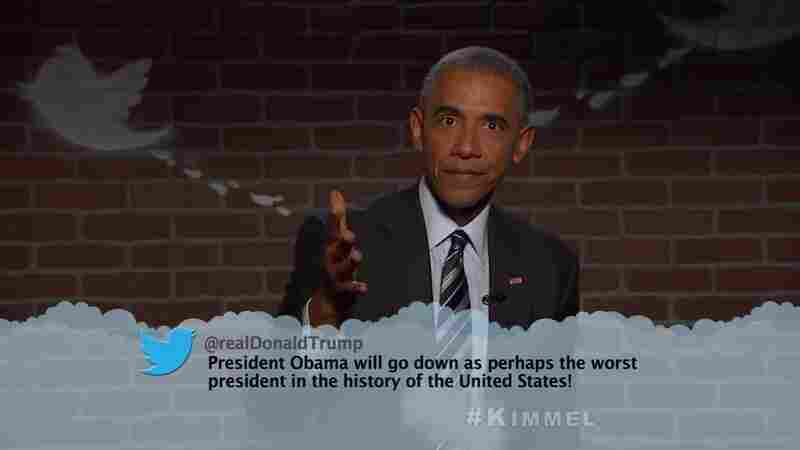WATCH: Obama Reads 'Mean Tweets' — Including One From Trump
