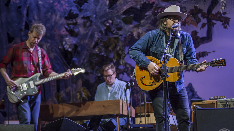 Wilco performs onstage at The Theatre at Ace Hotel in Los Angeles. (KCRW)