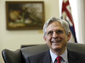 Supreme Court nominee Merrick Garland smiles on Capitol Hill in Washington in May as he made the rounds meeting with U.S. Senators. His confirmation has stalled in the Senate for eight months.