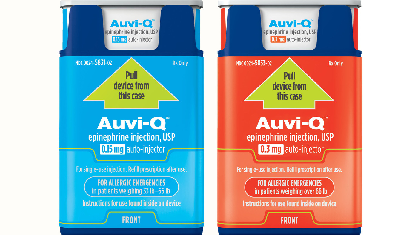 Auvi Q Maker Says Epinephrine Injector Will Be Available In 2017