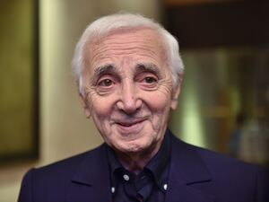 """Writing without performing is not interesting,"" Charles Aznavour says. His U.S. tour ends in Hollywood this week."