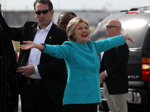 Hillary Clinton is campaigning in Florida this week, asking people to join the roughly 2 million Floridians who have voted already.