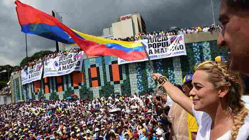 Huge Crowds Rally Against Venezuela's Deeply Unpopular President
