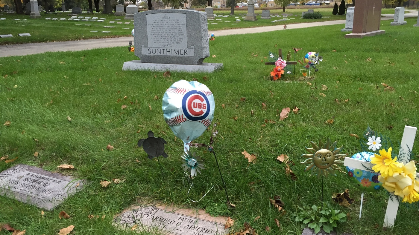 Cubs Fans Decorate Gravesites Of Loved Ones Across Chicago Area Npr