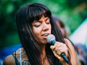 Hurray for the Riff Raff performs live at the Woods Stage at Pickathon 2016.