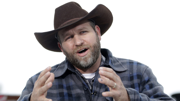 Ammon Bundy, shown during an interview at Malheur National Wildlife Refuge in January, still faces charges related to a standoff in 2014.