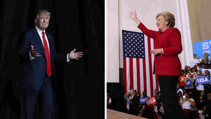 Double Vision: At Trump, Clinton Rallies In Fla., Divergence Is Clear
