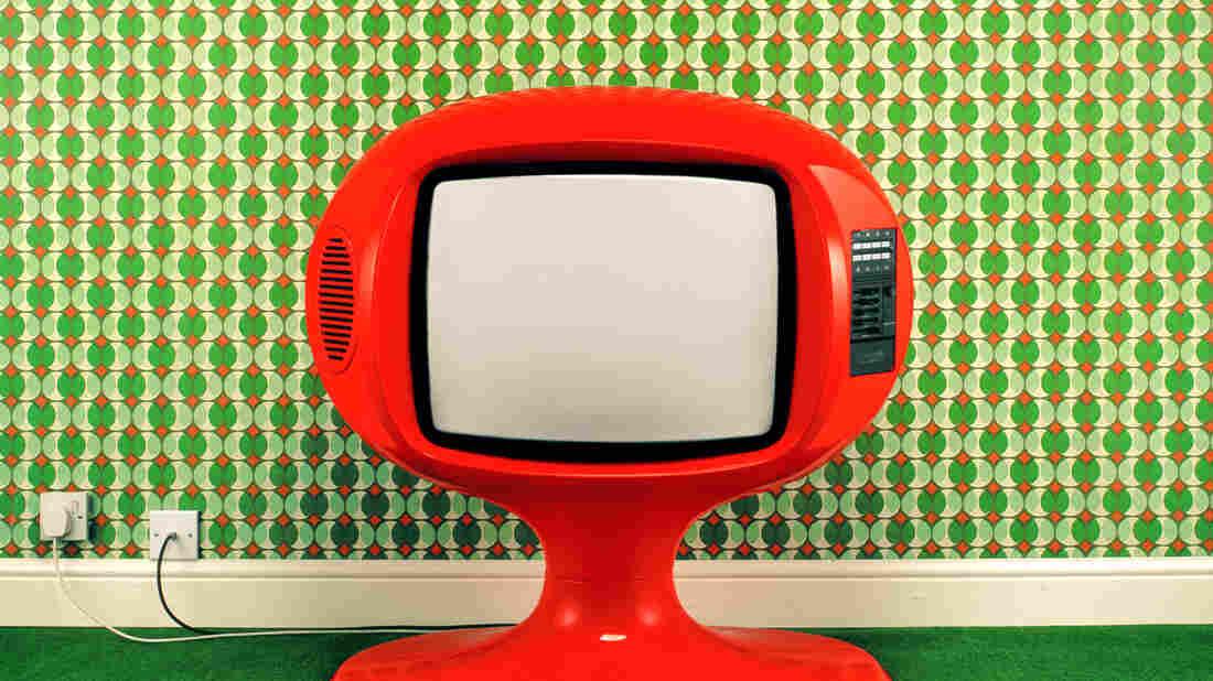 1970s television set.