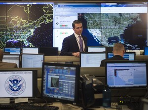 Workers at the National Operations Center at the Department of Homeland Security in Washington, D.C., Feb. 2, 2015.  The Obama administration is proposing $3.1 billion in upgrades to federal computer systems.