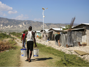 Thousands of Haitians were promised homes by aid groups like the American Red Cross in the wake of the earthquake in 2010. Instead, many were given temporary shelters without bathrooms, kitchens or running water.
