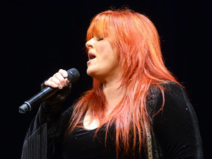 Wynonna Judd performing live on Mountain Stage in Charleston, W.Va.