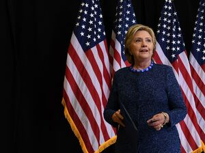 Hillary Clinton holds a press conference on Friday night calling on the FBI to release more information about its investigation into emails connected to Anthony Weiner and her private email server.