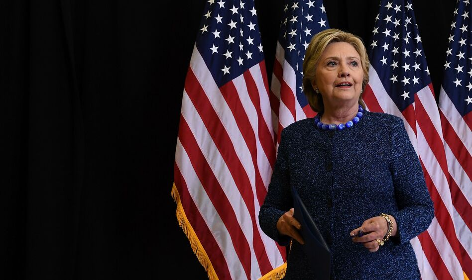 At a news conference Friday night, Hillary Clinton called on the FBI to release more information about its investigation into emails connected to Anthony Weiner and her private email server. (Jewel Samad/AFP/Getty Images)