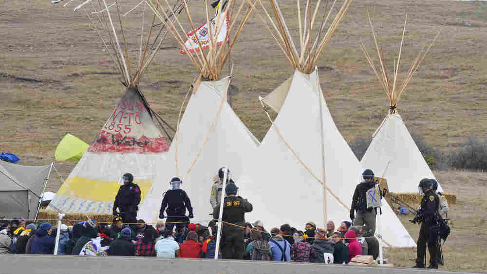 Tensions Escalate As Police Clear Protesters Near Dakota Access Pipeline