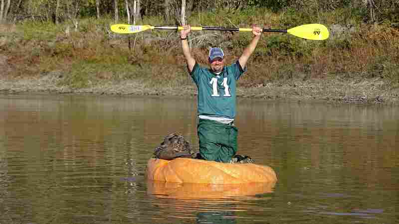 He Couldn't Break The Record For Pumpkin-Growing — So He Broke Out A Paddle