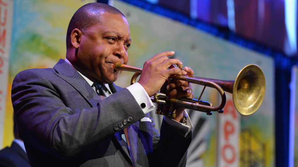 Wynton Marsalis onstage in New York in April 2016. His new violin concerto made its East Coast debut with the National Symphony Orchestra at the Kennedy Center last week. (Getty Images)