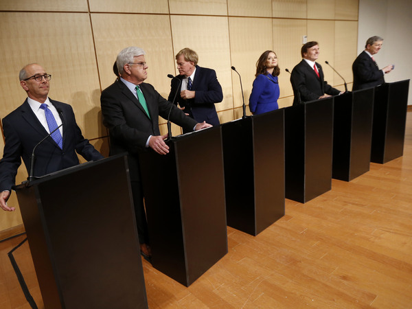 Louisiana candidates for the open U.S. Senate seat attend a debate at Dillard University in New Orleans.