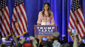 Re-emerging On Campaign Trail, Melania Trump Pledges To Fight Online Bullying