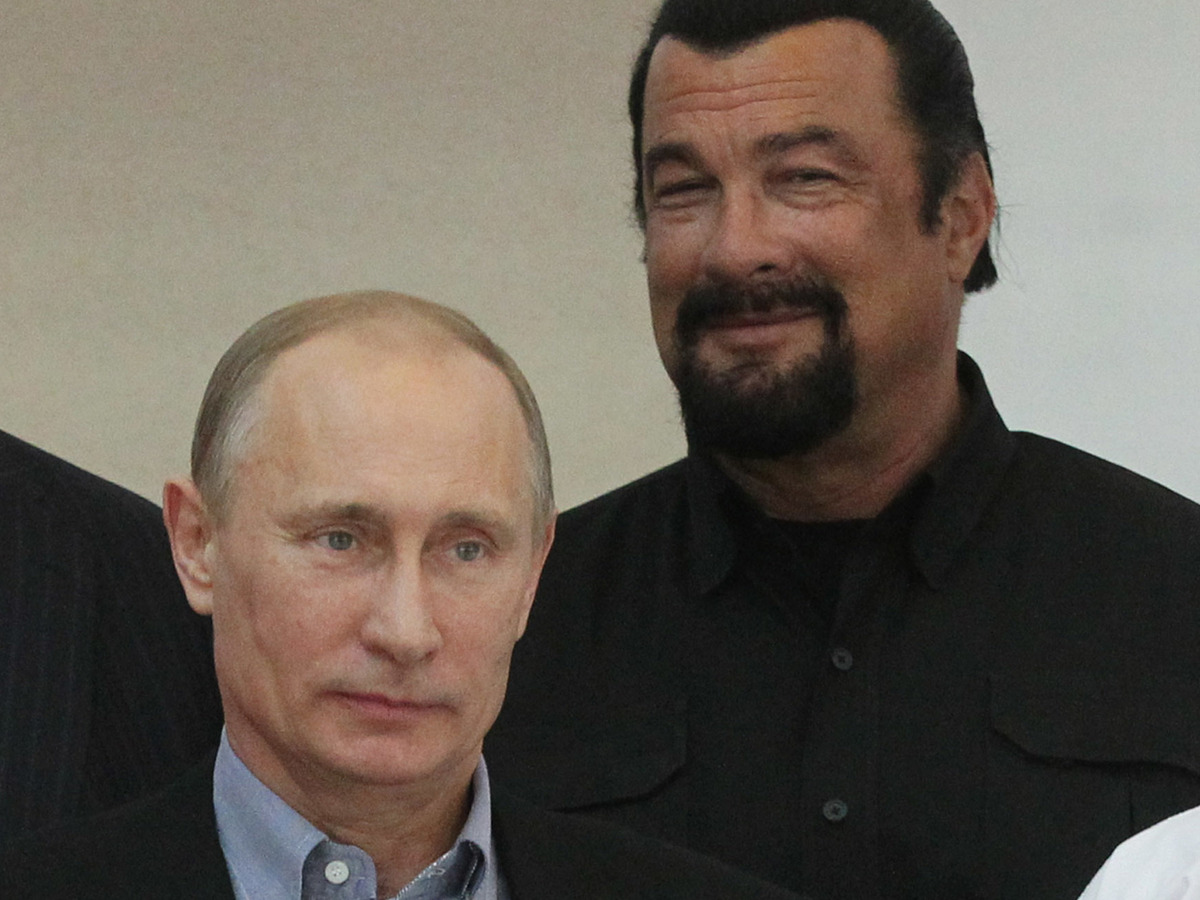 Actor Steven Seagal Gr...