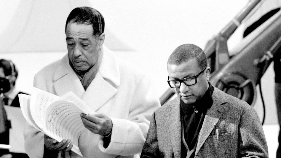 Billy Strayhorn (right), spent the majority of his career as a composer and arranger for Duke Ellington (left) and his orchestra. (Getty Images)