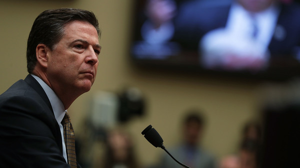 FBI Director James Comey testifies during a hearing before House Oversight and Government Reform Committee July 7, 2016 on Capitol Hill in Washington, D.C.