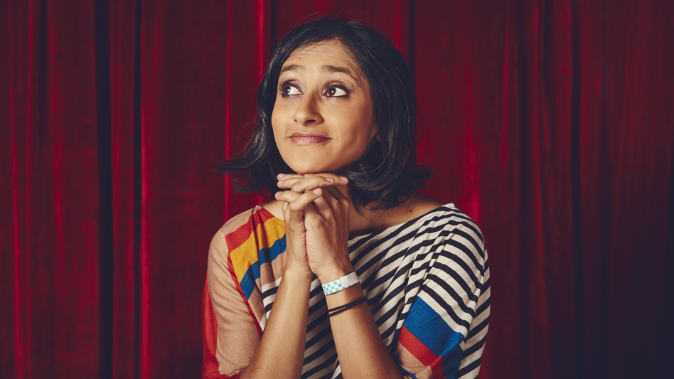 "Aparna Nancherla says that making jokes about depression and anxiety injects ""a little dose of hope."" (Shaughn & John)"