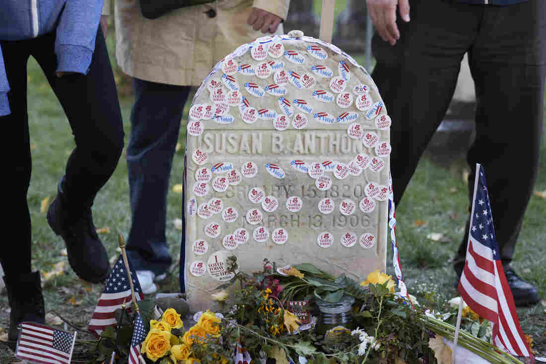 Women Are Covering Susan B. Anthonys Grave With I Voted Stickers pictures