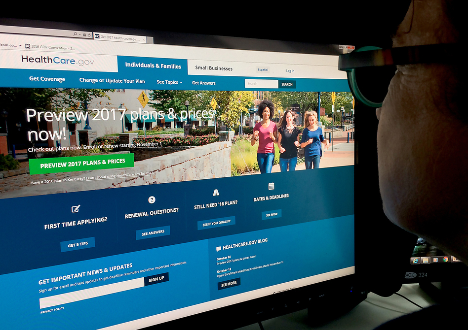 If the Trump administration decides to drop an appeal of a legal setback involving Obamacare subsidies, the insurance exchanges could be hobbled. (Karen Bleier/AFP/Getty Images)