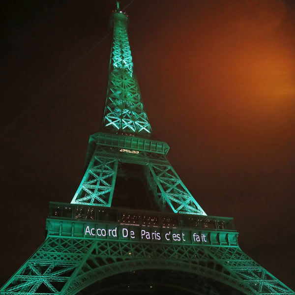 France celebrated a milestone in the Paris climate change agreement last week by lighting up the Eiffel Tower in green. President-elect Donald Trump could pull the U.S. out of the deal.