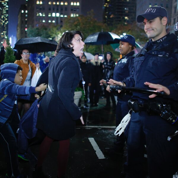A Protest, A Police Officer, A Yelling Mother: The Story Behind A Photo