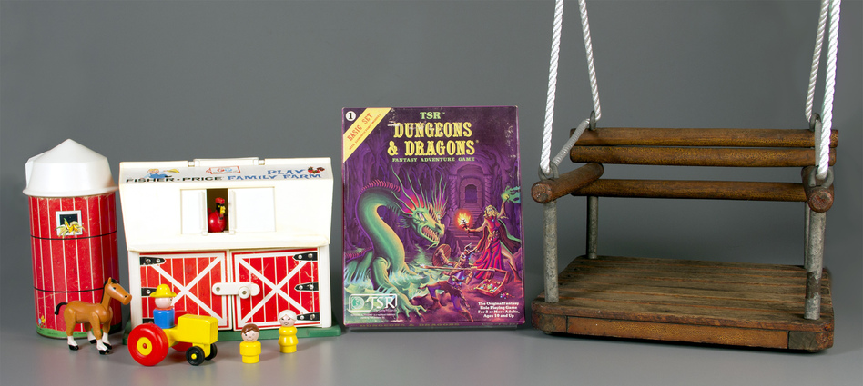 Fisher-Price Little People, the role-playing game Dungeons & Dragons and the simple swing are now in the National Toy Hall of Fame. (The Strong, Rochester, N.Y.)
