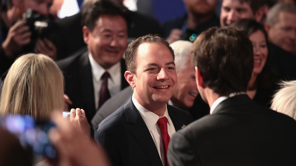 RNC Chairman Reince Priebus after the presidential debate at Hofstra University in September. (Drew Angerer/Getty Images)